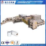 Garantía Ce laminado encolado rollos de toallas de papel higiénico de la línea de producción de fabricación