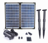 20W Flow-Adjustable bomba sin escobillas Solar Kit para la fuente