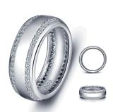 結婚指輪の立方ジルコン925の銀製の方法銀の宝石類