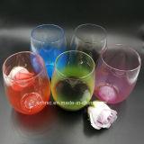 16oz farbige PlastikStemless Wein-Wegwerfgläser