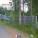 Frontière de sécurité en plastique en bois domestique du composé WPC de type européen