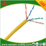 Schnelle Anlieferung Belüftung-oder LSZH Umhüllungen-Material verzinnte kupfernen Abfluss-Draht 4 Paare kupferne LSZH Cat5e Kabel-