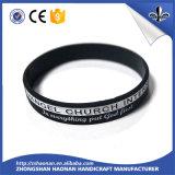 Wristband del silicone del poliestere di alta qualità con l'abitudine