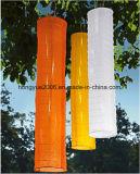 Venda a quente tecido Solar Dobrável 1m de comprimento longo Lampion Solar lanterna para pendurar