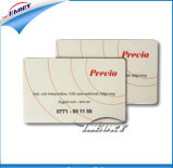 Scheda laminata del PVC con il numero di scheda ed il codice a barre