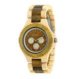 La madera natural de múltiples funciones del OEM mira el reloj de madera de los relojes del regalo