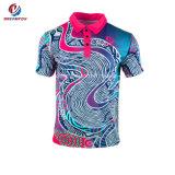 Aerado 100 % Polyesters se sublima Imprimir uma secagem rápida Sportswear camisa Polo unissexo