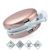 Nieuwe Unieke Ronde Intrekbare Kabel Twee van de Doos de Contactdoos van de Uitbreiding van de Lader USB