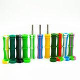 FDA van de Stijl van het Bamboe van Nice de Waterpijpen die van het Glas van het Silicium Water Headshop met het Uiteinde van het Titanium roken