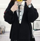 Senhora bordada Casaco de lã casaco de lã frouxo novo do Knit de 2017 outonos (BTQ223)