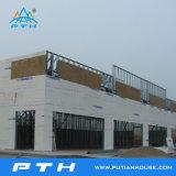 Proyecto de edificio modular prefabricado de la estructura de acero para el almacén/el taller/la fábrica