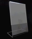 傾けられた明確なアクリルの印のホールダーの顧客のサイズ、卸売のアクリルの印のホールダー8.5 x 11