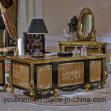 0061 goldener Europ königlicher Entwurfs-klassischer festes Holz-Studien-Schreibtisch