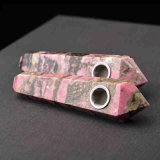 Tubulação de fumo material natural de fumo da tubulação da mão da pedra da Pêssego-Flor da tubulação da mão
