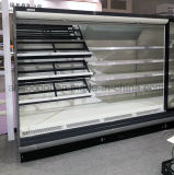 Réfrigérateur ouvert d'étalage d'économie d'énergie pour le supermarché avec l'éclairage de DEL