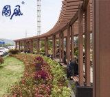 Павильон Pergola WPC смеси WPC шестиугольника деревянный пластичный