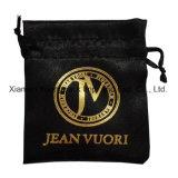Impressão personalizada promocional pequeno cordão Organza Saco de embalagem de veludo de moda Joalharia Embalagem Tecido acetinado luxuoso estojo de sacos de jóias
