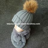 Sciarpa di inverno della pelliccia della signora Fashion Faux Rex Rabbit grande