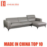 Strato sezionale del sofà del cuoio bianco del tessuto della mobilia del salone