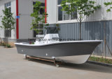 19FT 50HP de Grijze Boot van Panga van de Glasvezel van de Kleur voor Visserij
