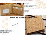 Pochette courte Bifold lavable de papier d'emballage de liège avec le guichet clair d'identification