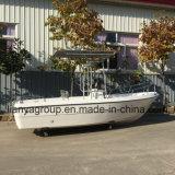 Casco de fibra de vidro rígido Liya 500 barcos de suporte de haste de Pesca