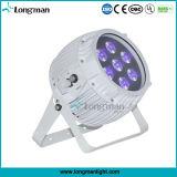 Éclairages LED de batterie de Rgbawuv 7*14W RoHS pour l'étape