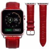 Appleの腕時計のための熱い販売の38mmのピンクのワニの本革の時計バンド