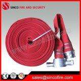Mangueira de incêndio vermelha do forro do PVC com acoplamentos do padrão das BS