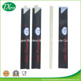 Bambu chinês Chopsticks personalizados com luva do Semi-Papel