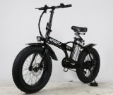 Bicicleta gorda elétrica de dobramento com o pneu 4.0
