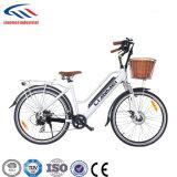E-Bicicleta elétrica da bicicleta da cidade com o motor 250W e a bateria 36V10ah