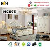 Conjunto de dormitorio de madera europeo de los muebles antiguos (HC905)