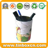 Le fer blanc à l'emballage de l'étain boîte pour porte-plume, Vase d'un crayon de métal