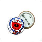 記念品(YB-s-002)のための安いカスタム印刷のロゴボタンのバッジ