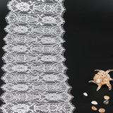 Tessile svizzera del tessuto del merletto del voile del ciglio del merletto della guarnizione
