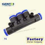 Enfoncer en plastique convenable convenable pneumatique de tuyaux d'air du PK le connecteur rapide