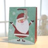 Weihnachtskleidet rotes Schneemann-Grün Geschenk-Papierbeutel