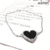 Kundenspezifisches heißes Verkaufs-Form-Silber-Kettenarmband mit schwarzem echte Perle-Innerem