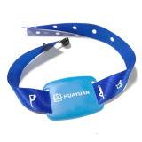 Le bracelet 1K tissé par IDENTIFICATION RF classique de la garantie MIFARE avec Anti-Retirent des boucles