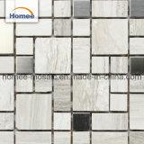 Italia de alta calidad de la cocina de mármol gris Backsplash baldosas mosaico