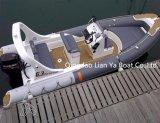 Ce de Hypalon de bateau de côte de fibre de verre de bateau de vitesse de Liya 6.2meter reconnu