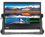"""13.3の"""" IPS FHD 1920X1080の波形のベクトルスコープの3GSDI/HDMIの生産のモニタの表示"""