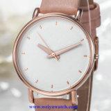 Signora Quartz Wist Watch, servizio dell'OEM delle vigilanze della signora (WY-17024) di cuoio della cinghia