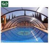 천막은 그늘 반투명 큰 알루미늄 폴리탄산염 철회 가능한 수영장 덮개를 커버한다