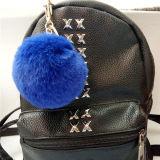 安いPOM POM Keychainののどの毛皮の球ののどの毛皮のポンポン