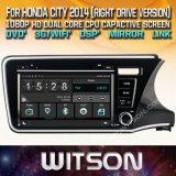 De Auto DVD van het Scherm van de Aanraking van de Vensters van Witson voor Versie van de Bestuurder van de Stad 2014 van Honda de Juiste