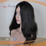 Peruca judaica superior de seda do cabelo brasileiro do Virgin (PPG-l-0859)