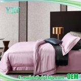 4PCS 100%年の綿の贅沢なモーテルのピンクの寝具セット