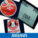 Die-Cut de Statische Sticker van de Auto van pvc van het Overdrukplaatje van het Venster Vinyl